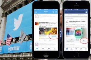 Facebook y Twitter promocionan el negocio de las apps