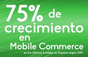 Crecimiento del mobile commerce