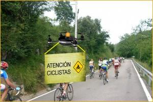 Dron Coche Escoba para ciclistas